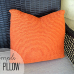 Crate and Barrel Inspired Simple Knit Pillow via Just Be Crafty